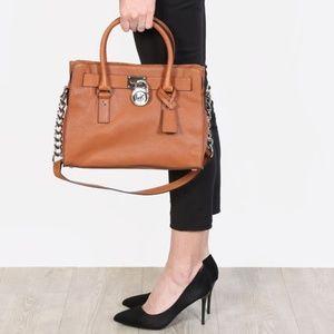 Michael Kors Hamilton Brown/Caramel Handbag -Tote
